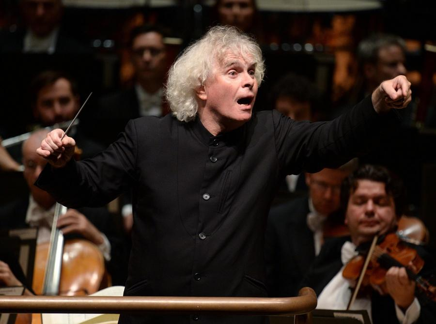 Rattle conducting the LSO
