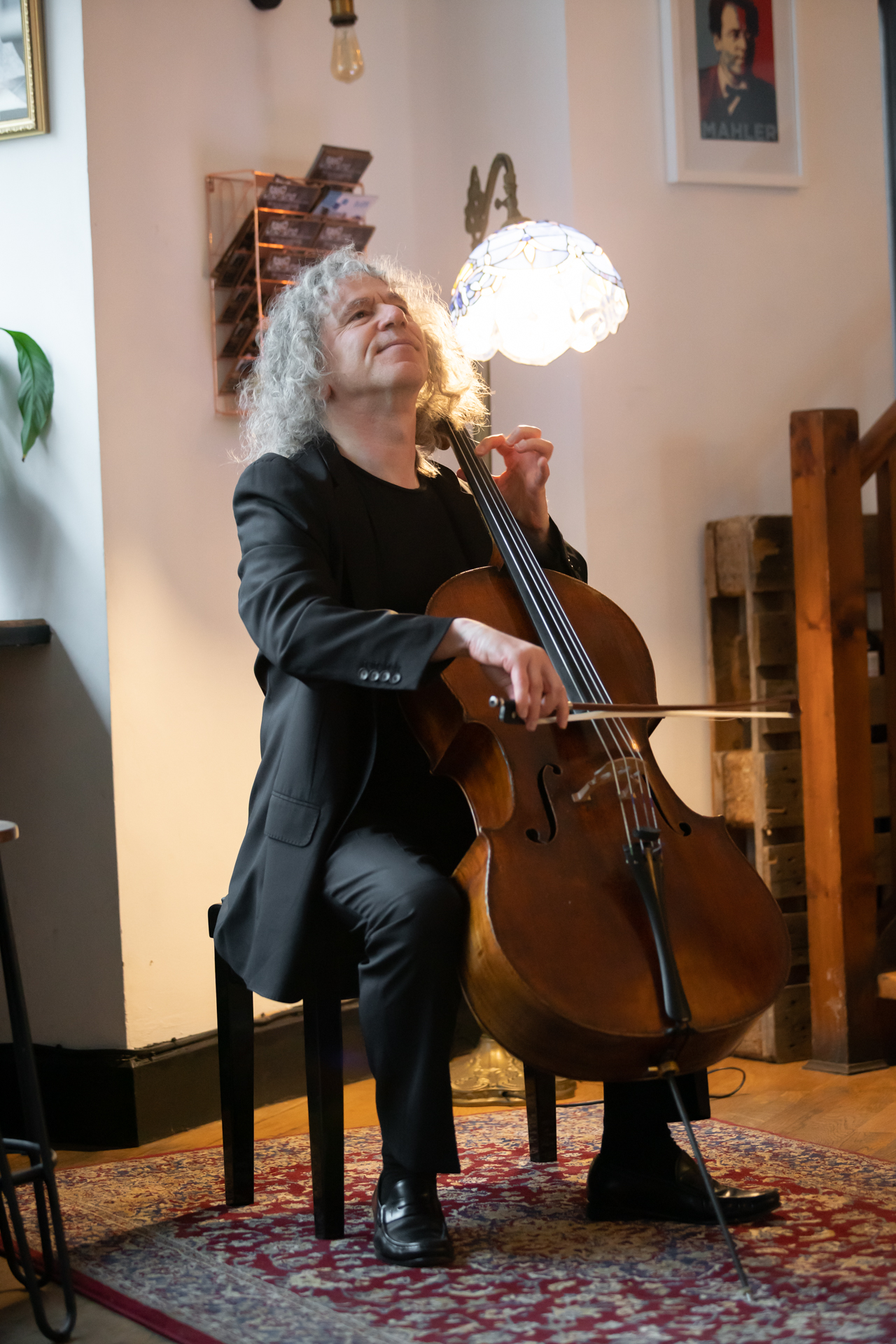 Steven Isserlis at the Fidelio Orchestra Cafe