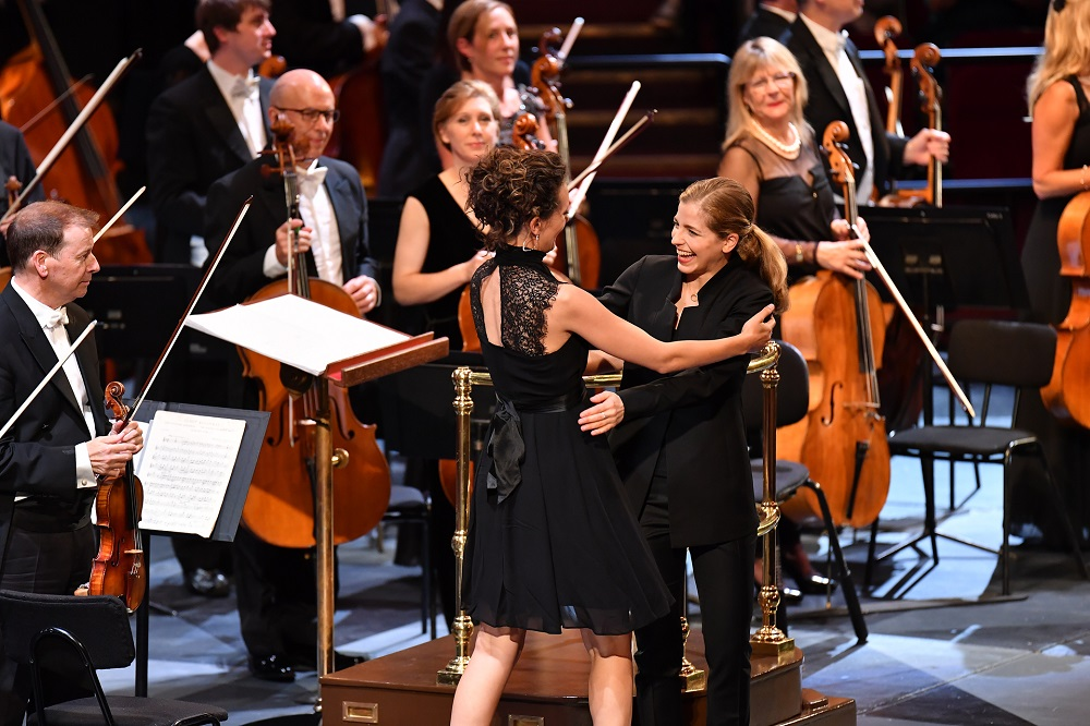 Composer and conductor at First Night of the Proms
