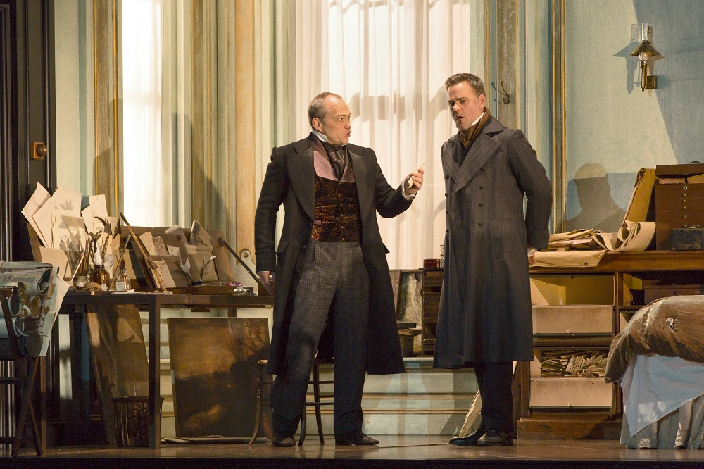 Christopher Maltman and Andrew Tortise in Lucia di Lammermoor