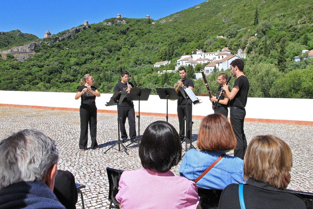 Portuguese wind quintet at the Convento di Arrabida