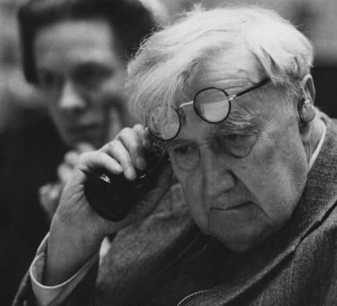 Vaughan Williams listening in old age