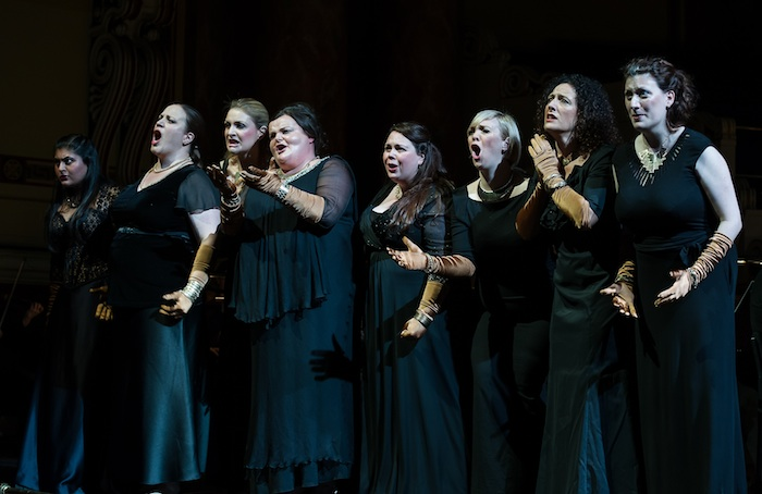 The Valkyries in Opera North's Die Walkure