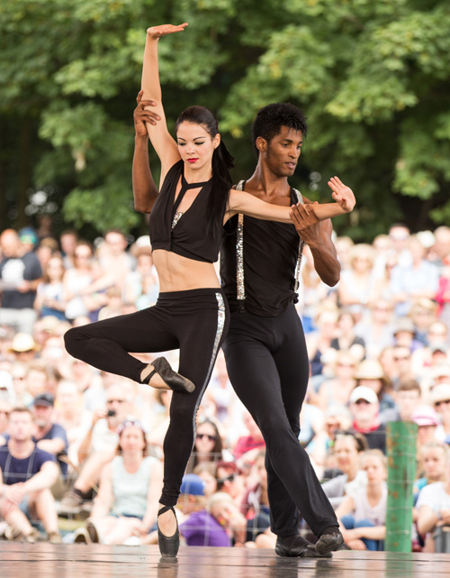 Cuban grooves with Ballet Revoluction on the Waterfront Stage