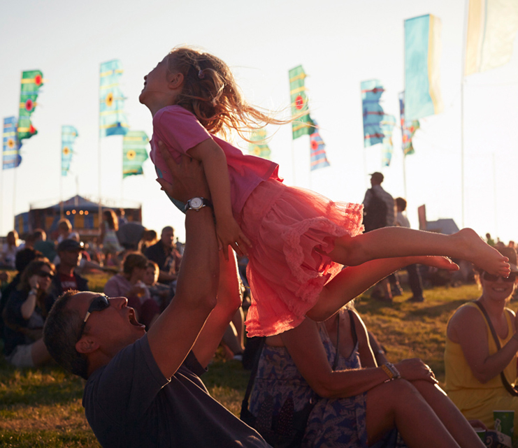 Family fun at Camp Bestival