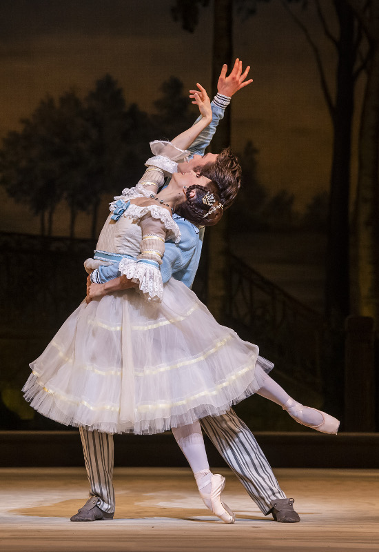 Marianel Nuñez and Matthew Ballet in Frederick Ashton's A Month in the Country, Royal Ballet. Photo by Tristram Kenton.