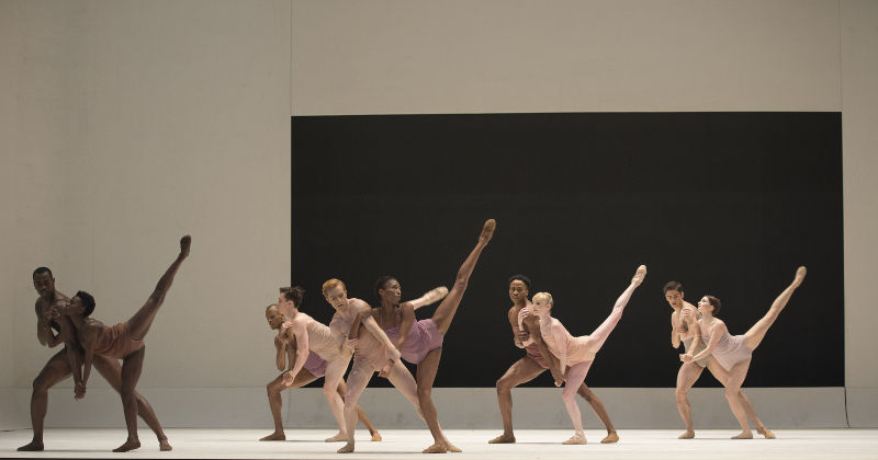 Artists of the Royal Ballet and Alvin Ailey America Dance Theater in Chroma by Wayne McGregor. Photo by Andrej Uspenski.