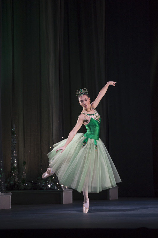 Laura Morera in Balanchine's Emeralds for the Royal Ballet. Photo by Bill Cooper.