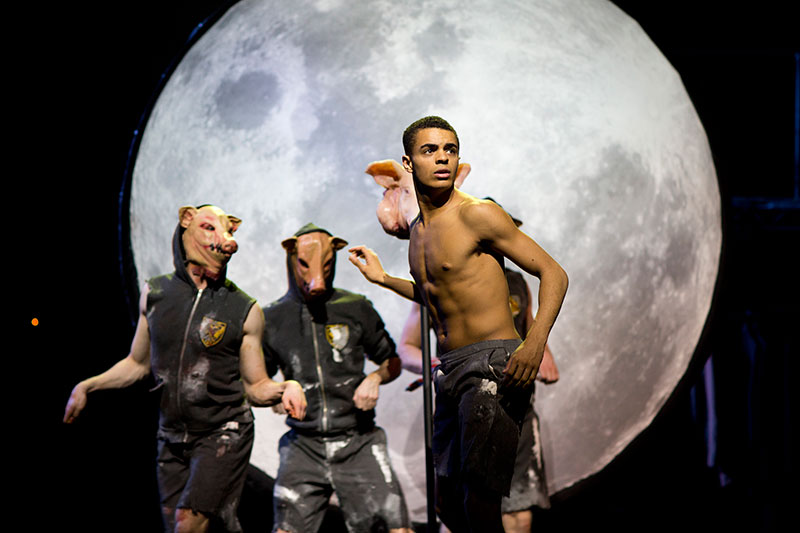 Layton Williams as Simon in Matthew Bourne's Lord of the Flies