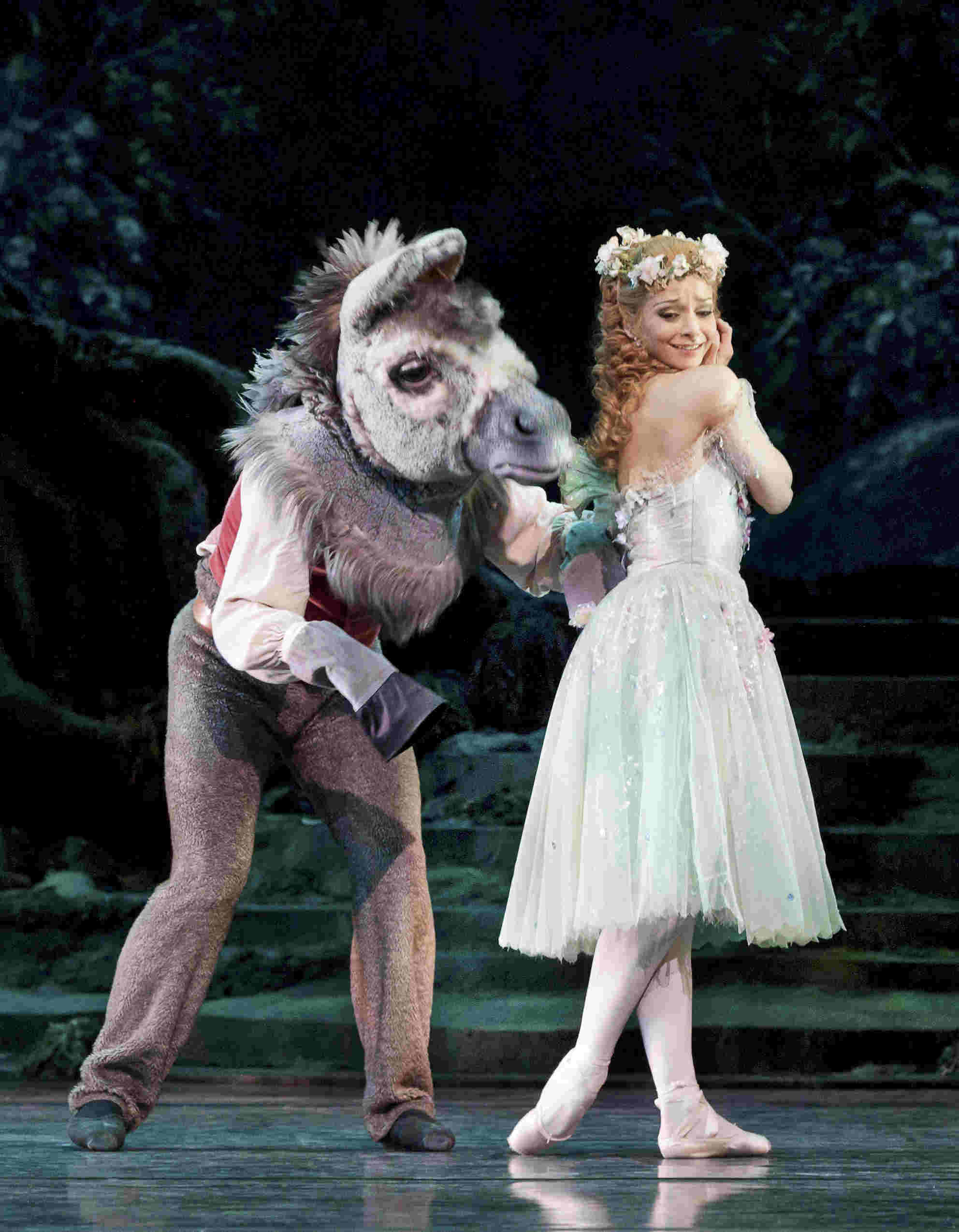 Roberta Marquez as Titania and Bennet Gartside as Bottom in The Dream