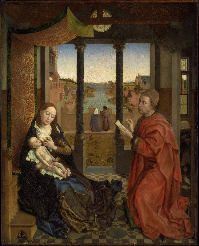Rogier van der Weyden, St Luke painting the Virgin Mary (c.1435)