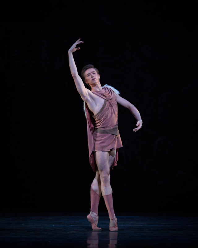 Vadim Muntagirov as Aminta in Frederick Ashton's Sylvia. Photo by Alice Pennefather.