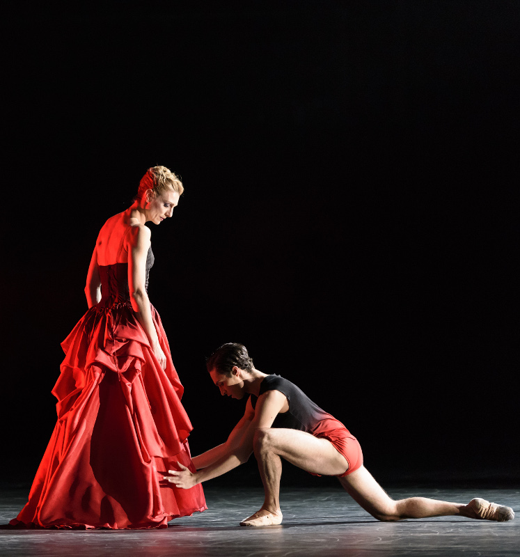 Zenaida Yanowsky and James Hay in Liam Scarlett's Symphonic Dances, Royal Ballet