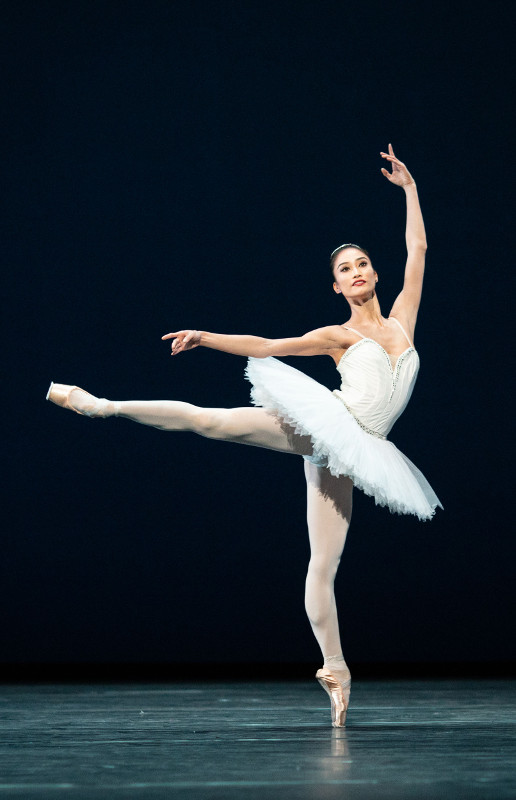 Fumi Kaneko in George Balanchine's Symphony in C. Photo by Helen Maybanks.
