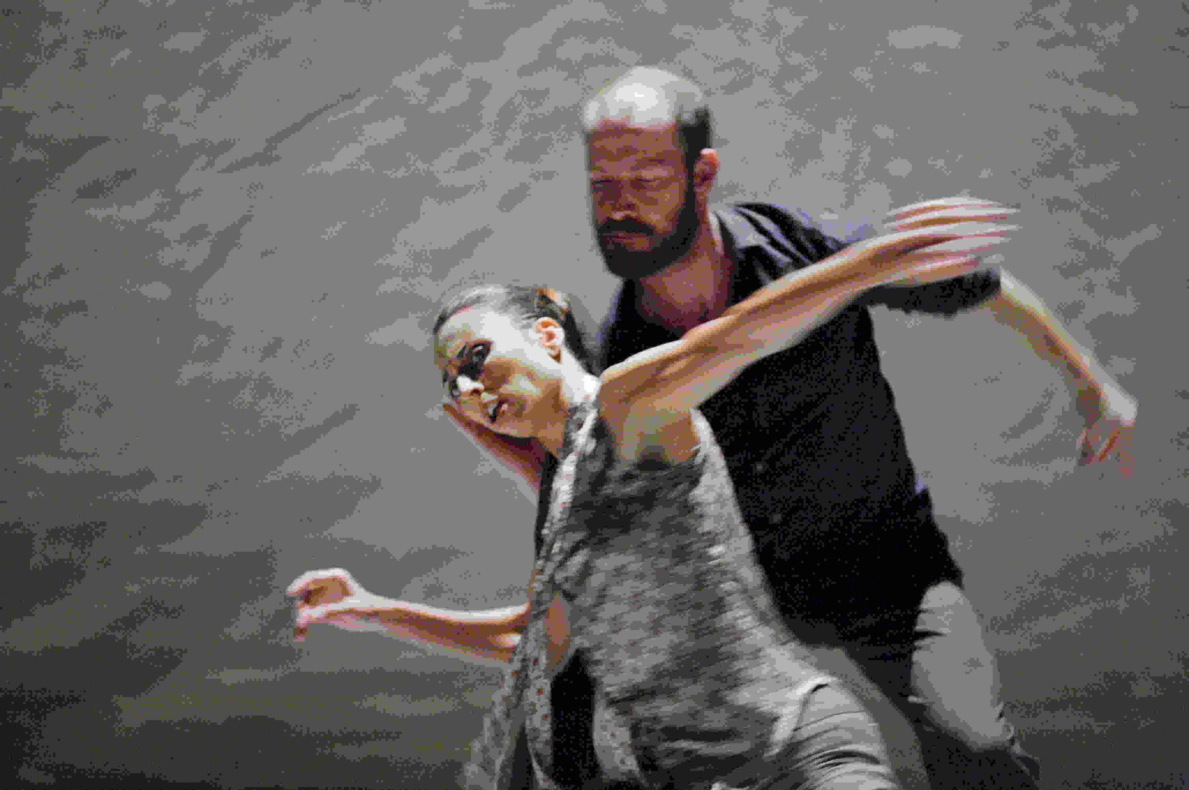Eric Beauchesne as Prospero and Sandra Marín Garcia as Ariel in The Tempest Replica