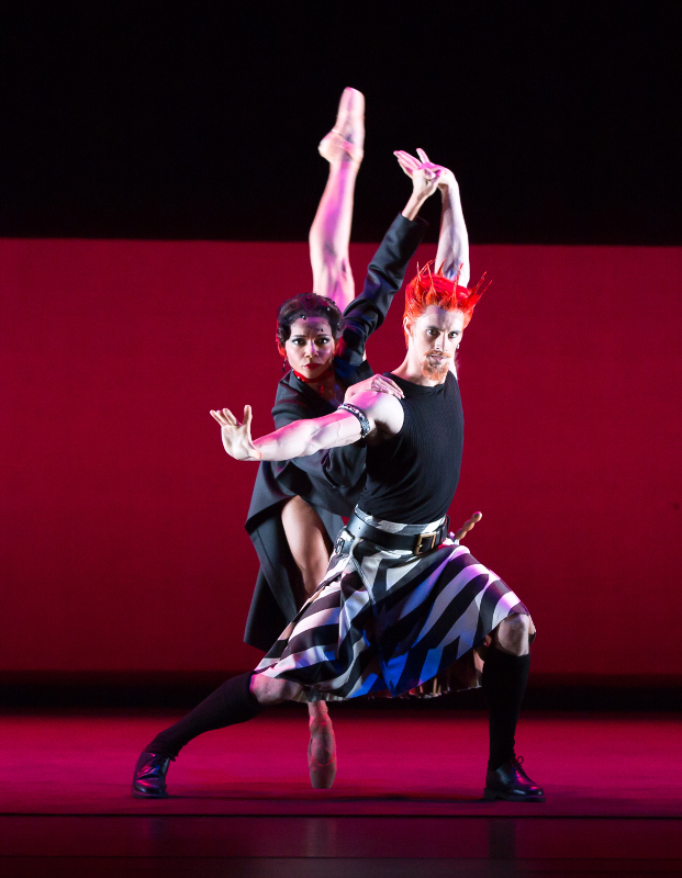 Céline Gittens as Lady Macbeth and Iain Mackay as Macbeth in David Bintley's Shakespeare Suite for Birmingham Royal Ballet