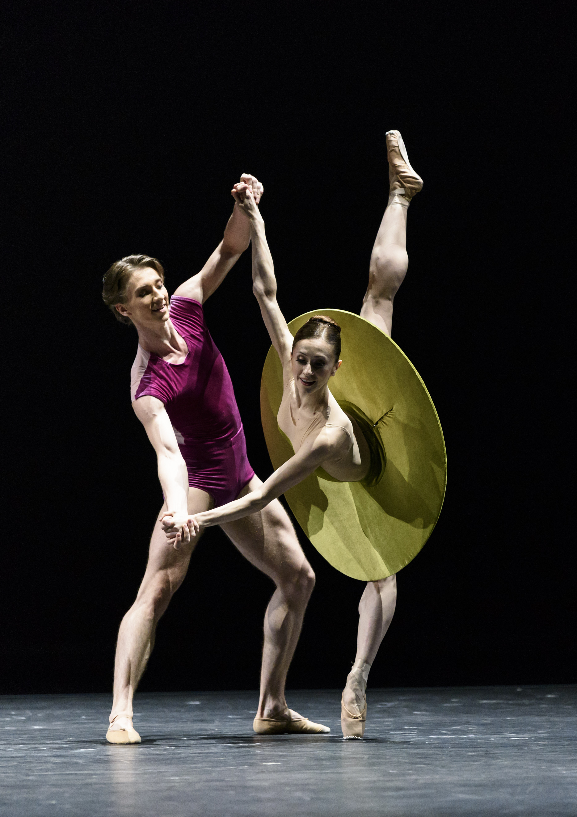 Vadim Muntagirov and Marianela Nuñez in William Forsythe's The Vertiginous Thrill of Exactitude. Photo by Bill Cooper.