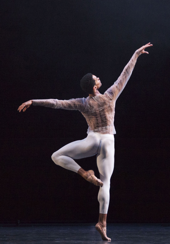 Brandon Lawrence in Jessica Lang's 'Wink' for Birmingham Royal Ballet