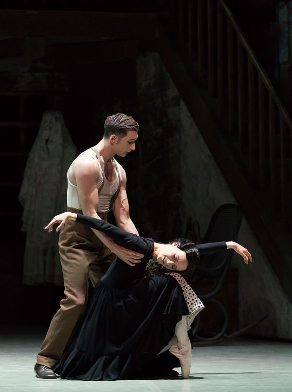 Dreda Blow and Giuliano Contadini in Kenneth MacMillan's Las Hermanas. Photo by Emma Kauldhar.