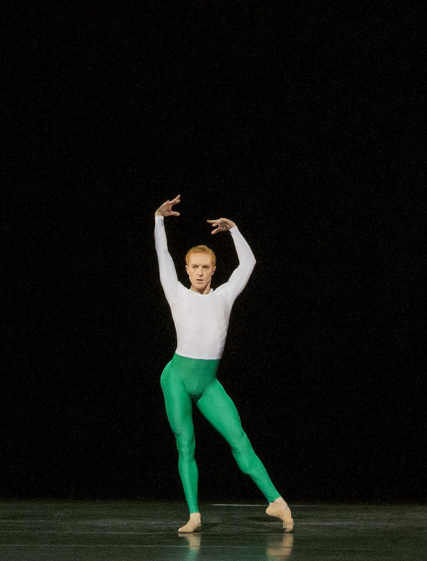 Royal Ballet dancer Steven McRae in Wayne McGregor's Tetractys - The Art of Fugue (2014)