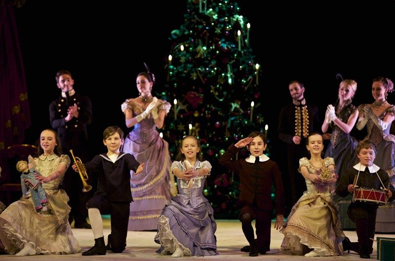 The Christmas party in Scottish Ballet's revived Peter Darrell Nutcracker