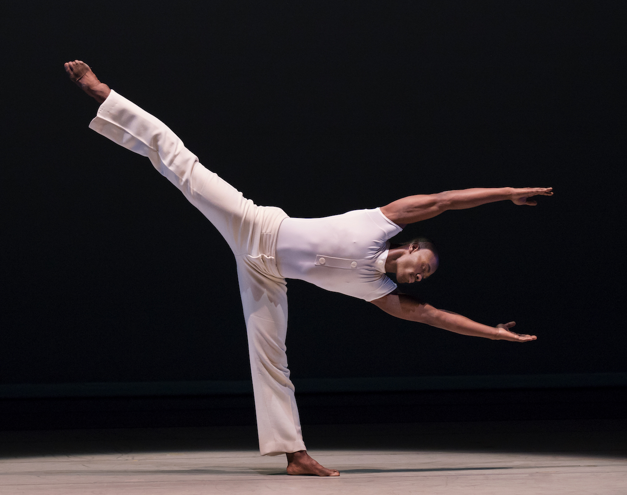 "Ailey dancer in ""I Wanna Be Ready"" from ""Revelations"""