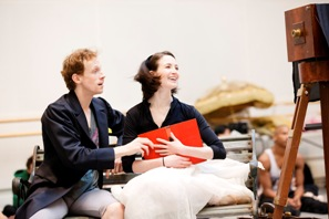 Edward Watson and Lauren Cuthbertson in rehearsal for the Royal Ballet's Alice's Adventures in Wonderland