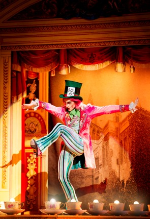 Steven McRae as the Mad Hatter in the Royal Ballet Alice's Adventures in Wonderland