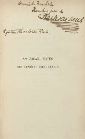 Dickens American Notes front
