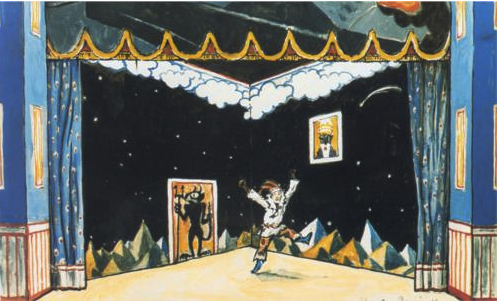 Benois sketch for Petrushka 1911