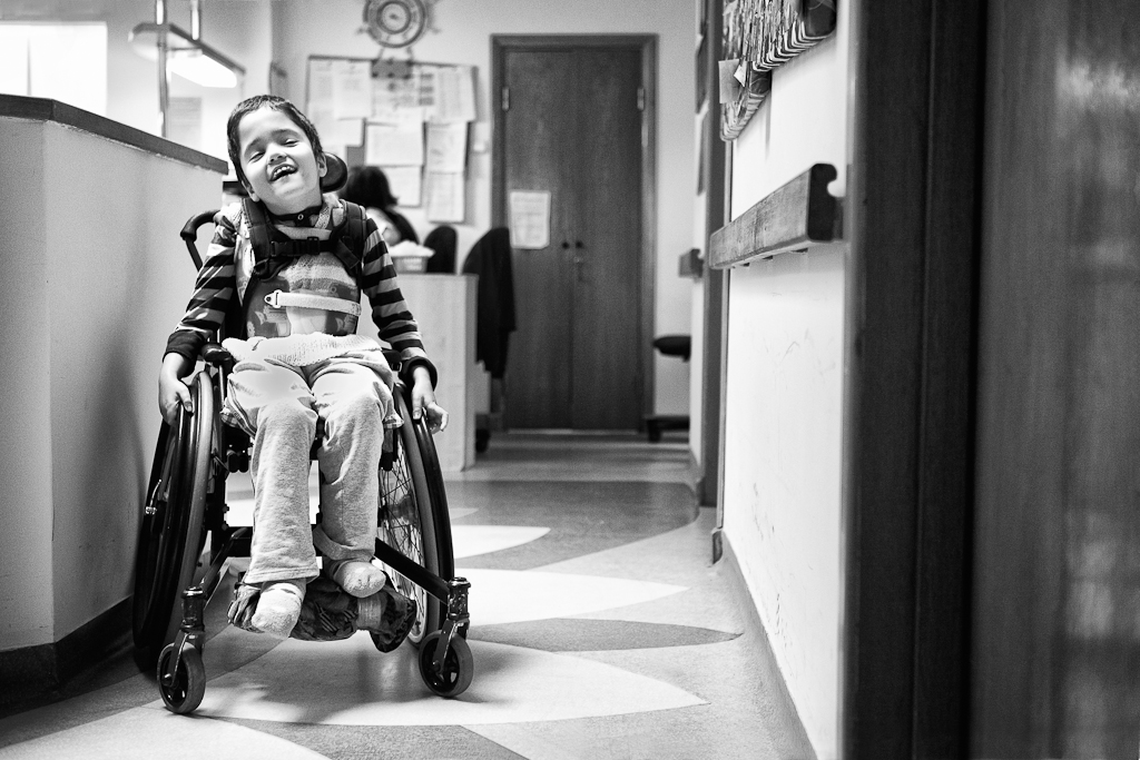 hospice girl in wheelchair