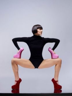 black_leotard_red_and_pink_shoes