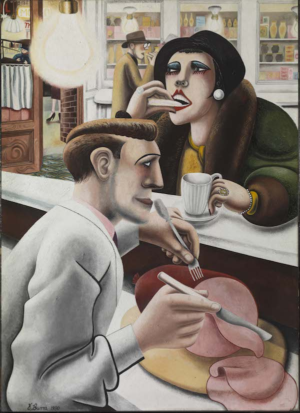 Edward Burra, The Snack Bar, 1930 © The estate of Edward Burra courtesy of Lefevre Fine Art London