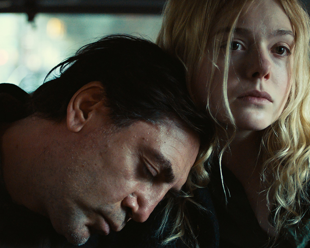 Javier Bardem and Elle Fanning in Sally Potter's latest work