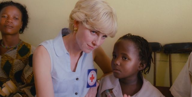 Diana in Angola in the Oliver Hirschbiegel film