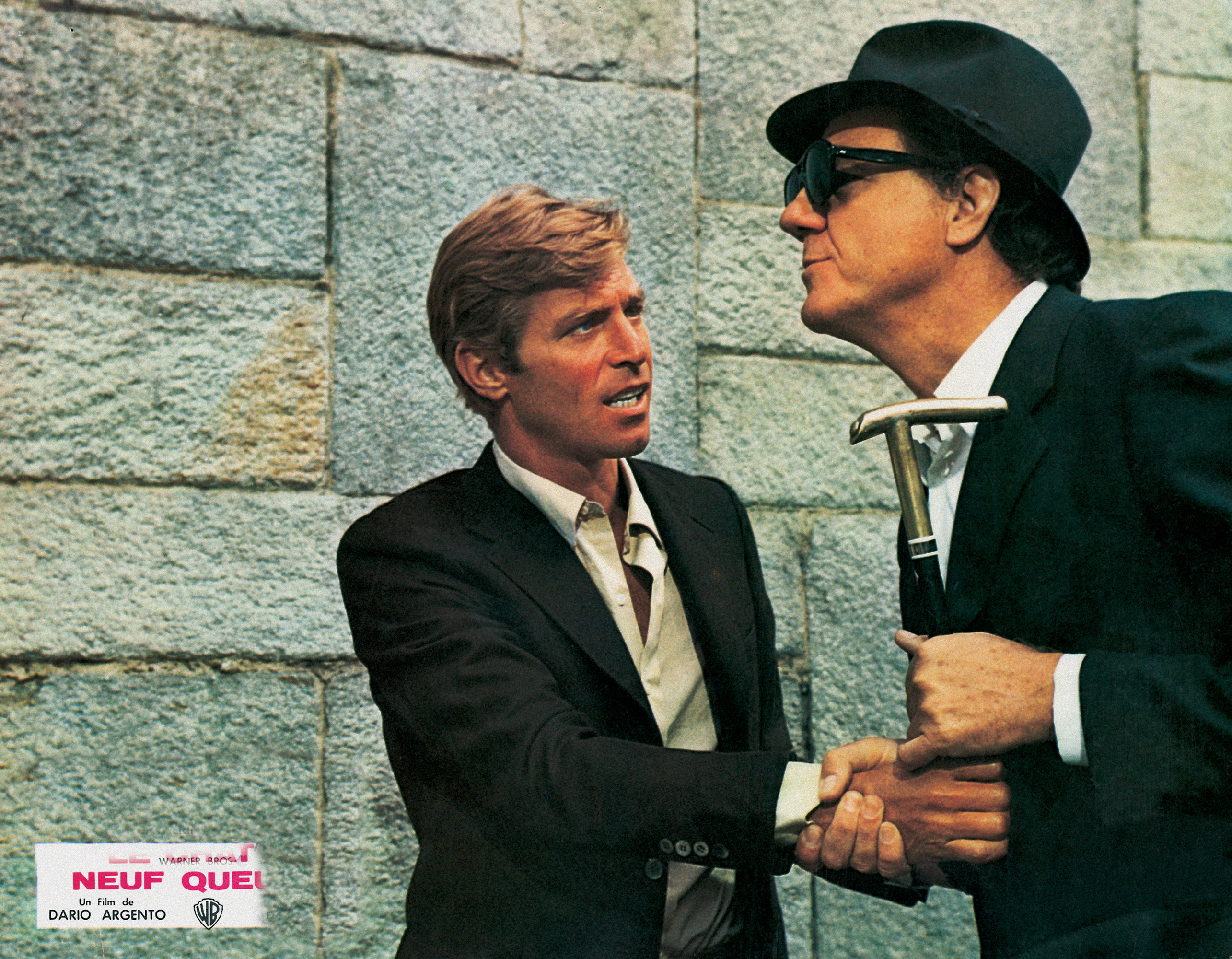 James Franciscus and Karl Malden in The Cat o' Nine Tails