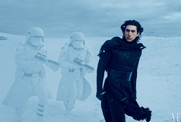 Kylo Ren (Adam Driver) in Star Wars: The Force Awakens