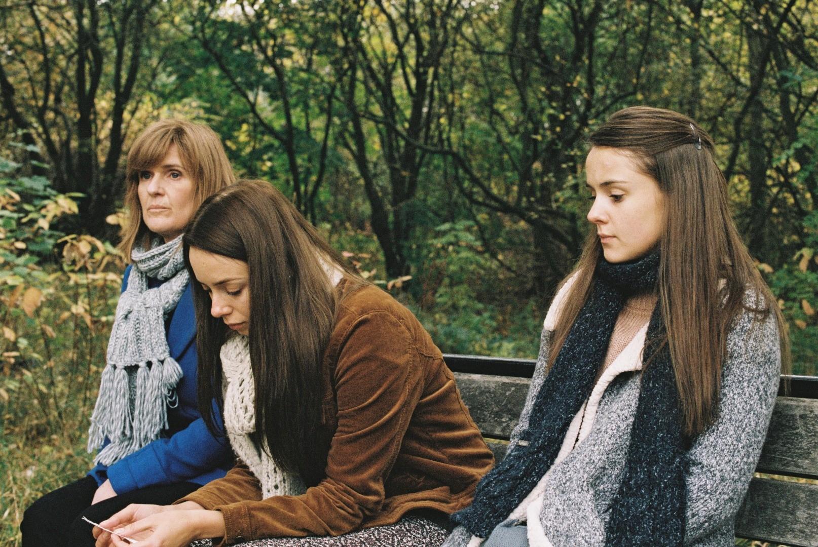 Siobhan Finneran, Sacha Parkinson and Molly Wright in Apostasy