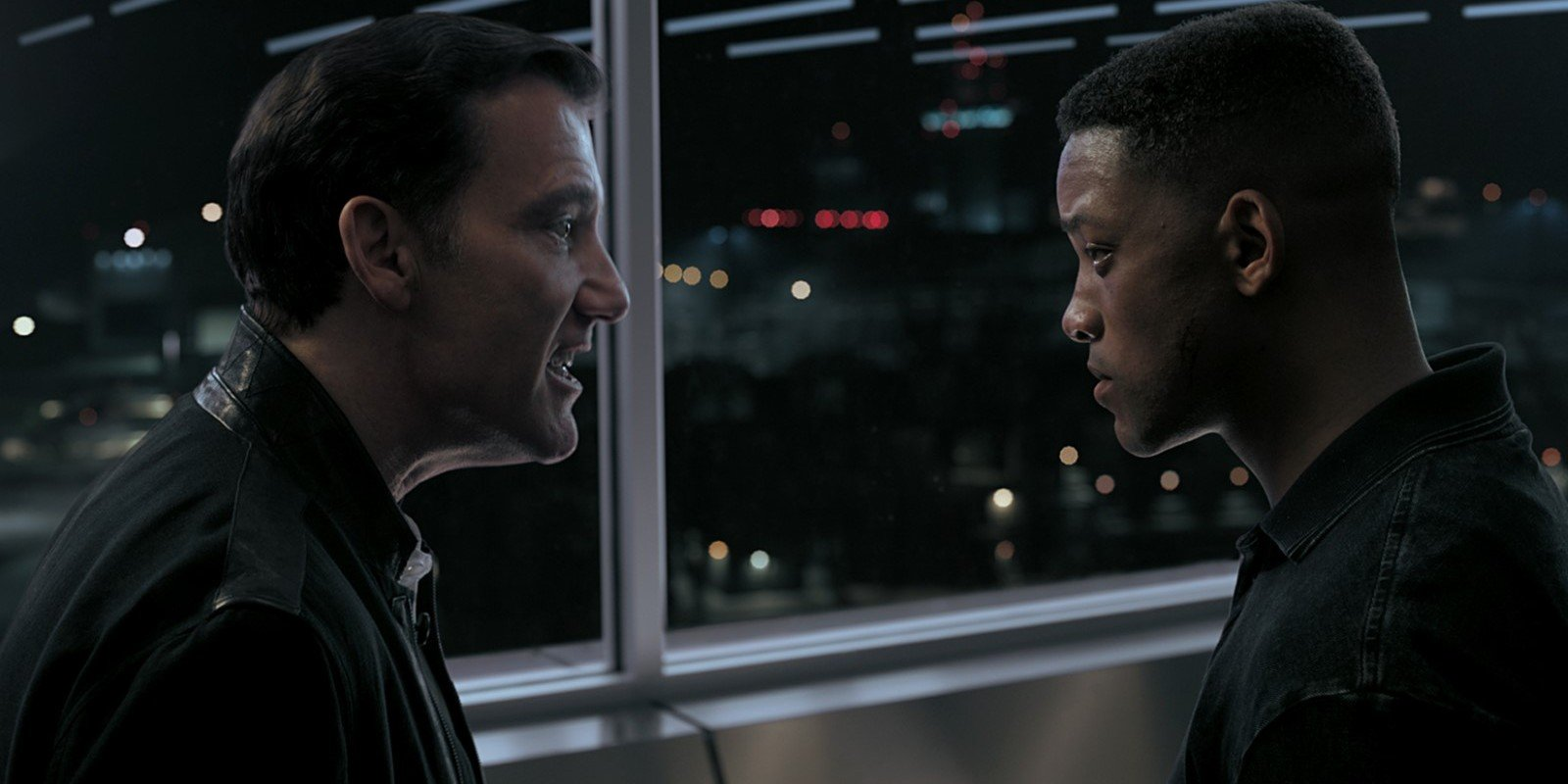 Clay (Clive Owen) and Junior (Will Smith) in Gemini Man