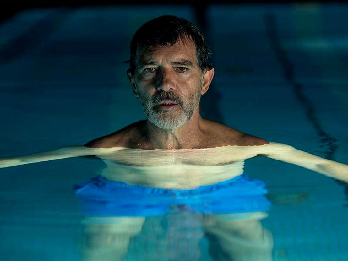 Salvador (Antonio Banderas) in Pain and Glory