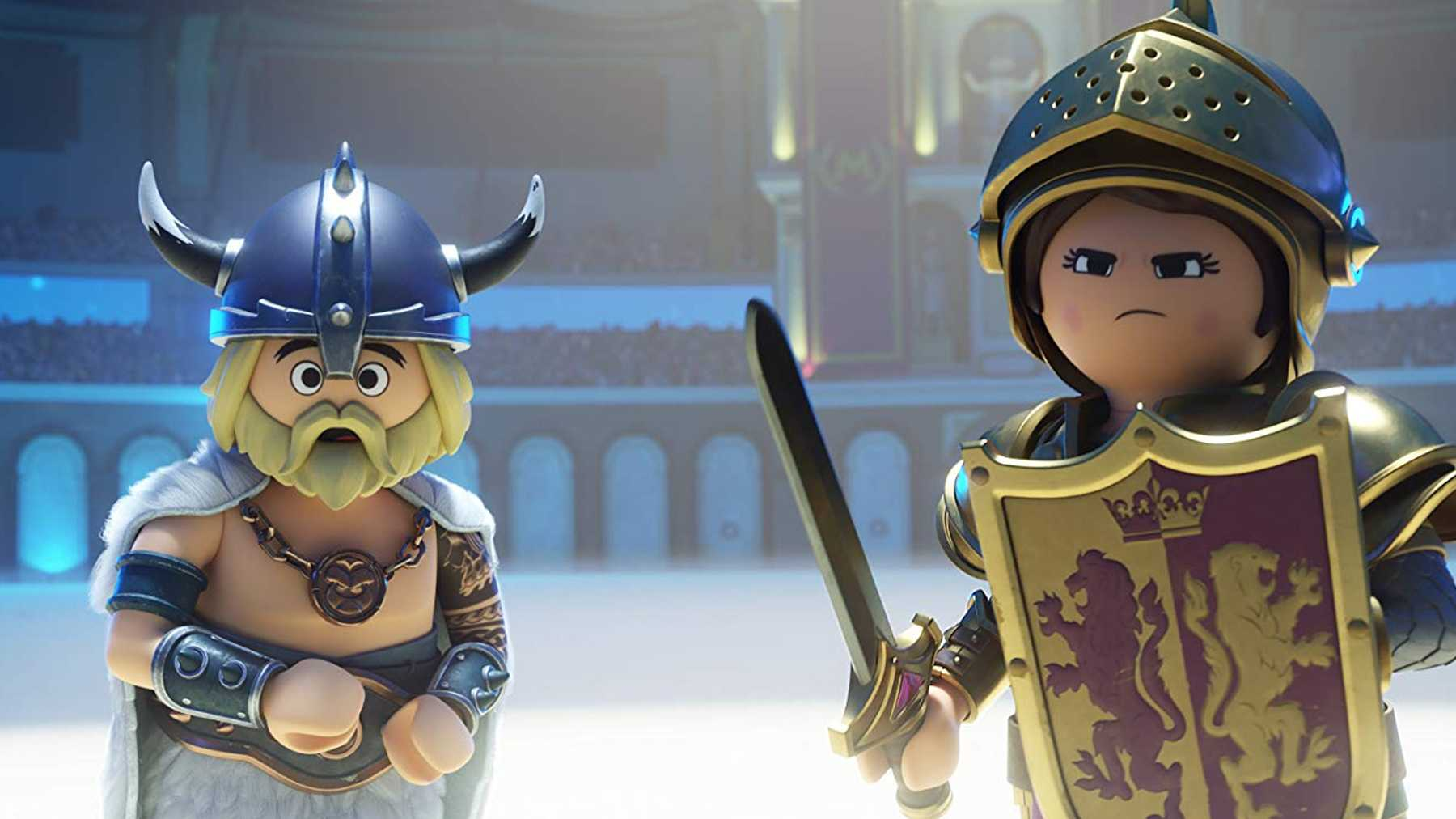 Charlie as a Viking in Playmobil the Movie