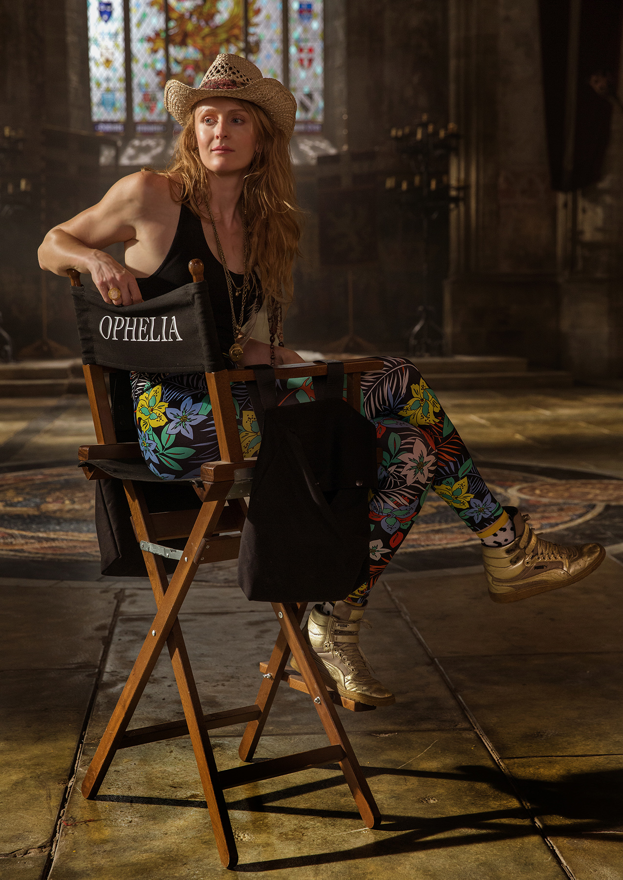 Claire McCarthy on set of Ophelia