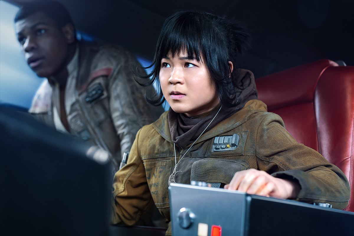 John Boyega and Kelly Marie Tran in Star Wars: The Last Jedi