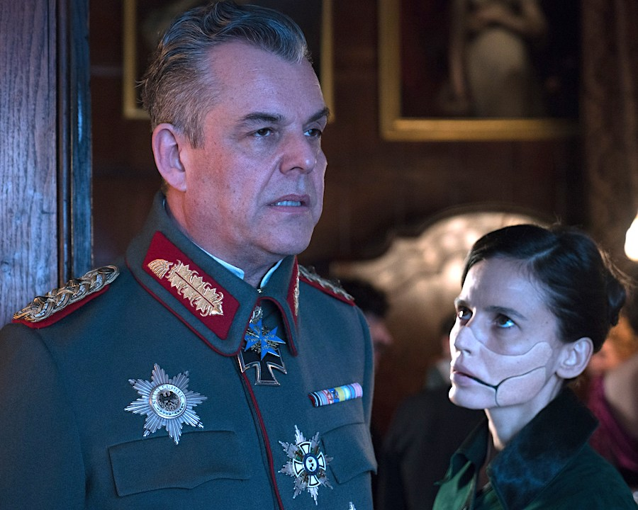Danny Huston and Elena Anaya in Wonder Woman