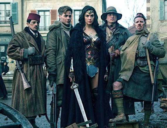 Gal Gadot, Chris Pine and pals in Wonder Woman