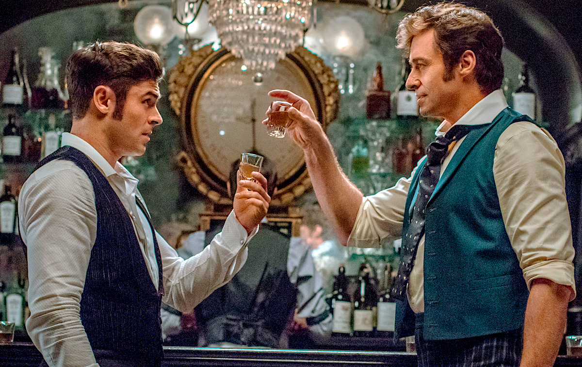 Zac Efron and Hugh Jackman. The Greatest Showman