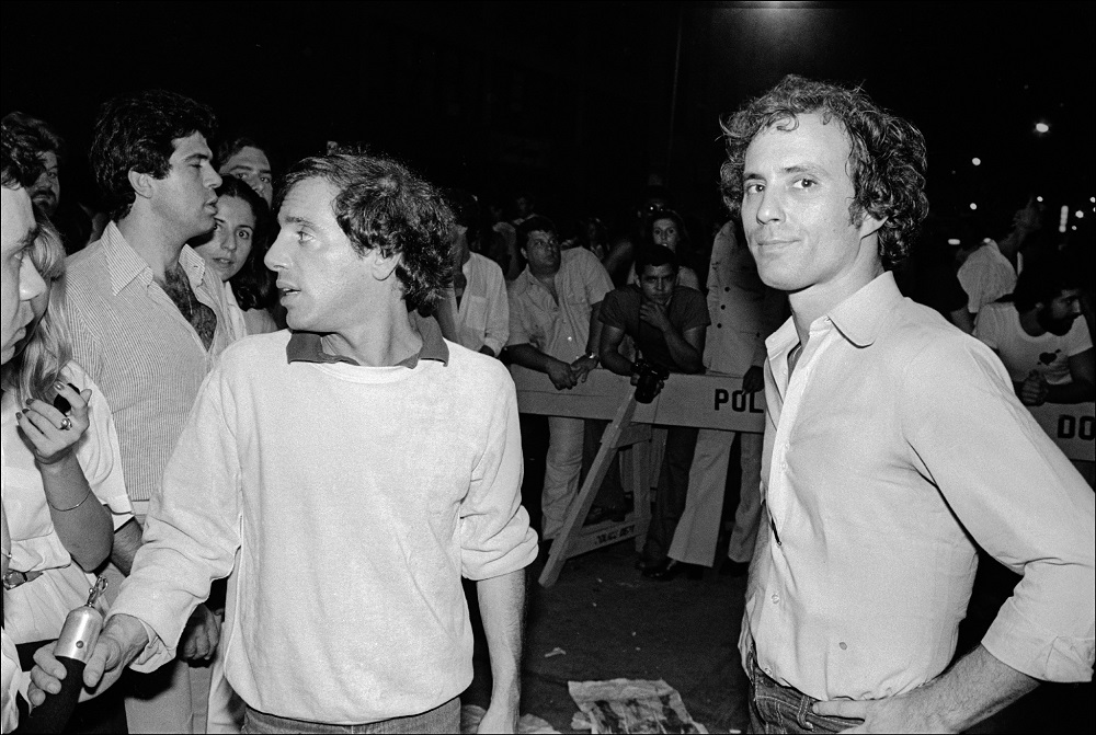 Steve Rubell and Ian Schrager outside Studio 54