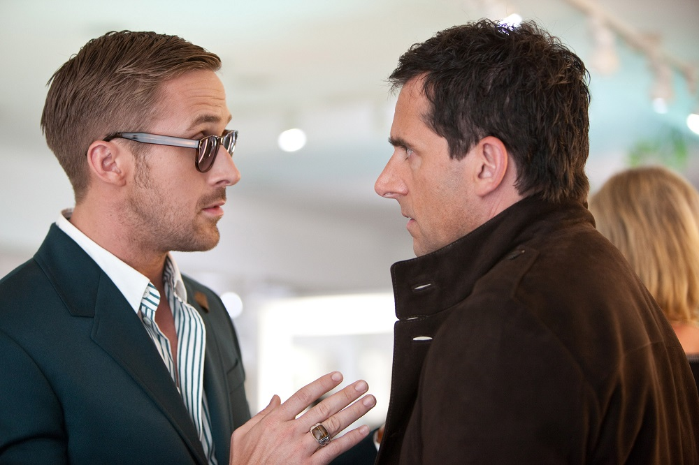 Ryan Gosling and Steve Carell in Crazy, Stupid, Love