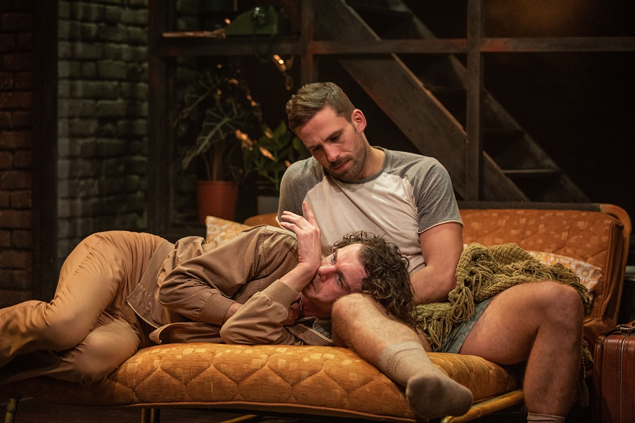 Matthew Needham (Arnold), Dino Fetscher (Ed) - Torch Song. Turbine Theatre