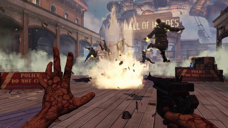 BioShock Infinite explosive action